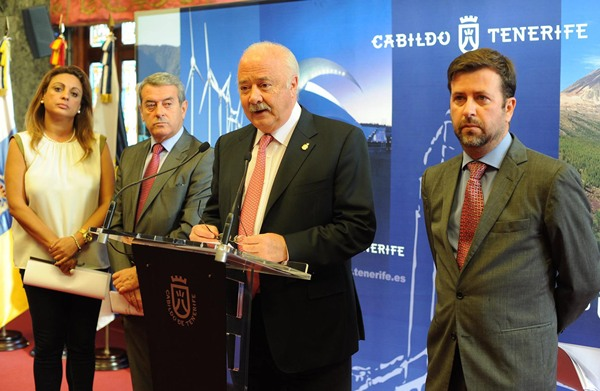 Cristina Valido, Aurelio Abreu, Ricardo Melchior y Carlos Alonso