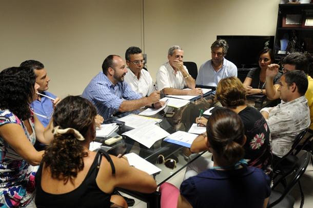 Fernando Ballesteros reunión Organismo Autonomo de Fiestas