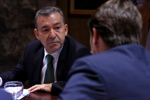 Paulino Rivero y el presidente de Ashotel Jorge Marichal
