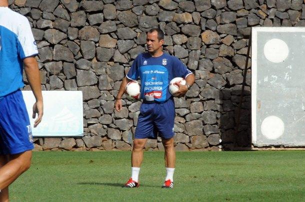 Álvaro Cervera, en un entrenamiento en el Mundialito JG