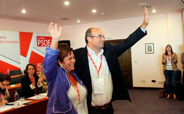 Anselmo Pestana y Rita Gómez, PSC-PSOE La Palma