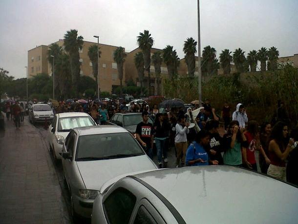 concentración estudiantes en la Universidad de La Laguna