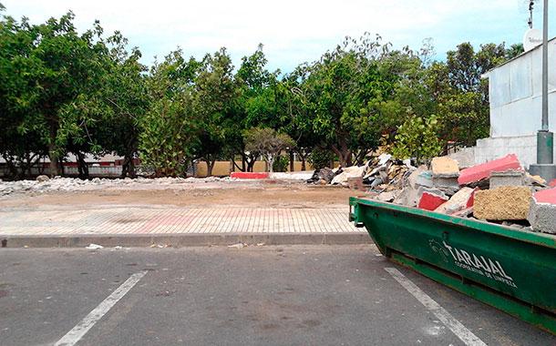 Demolinción autobar Victoria Puerto de la Cruz