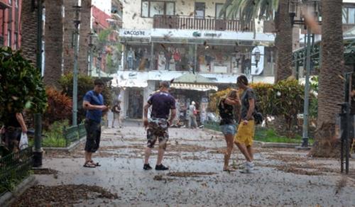 Lluvia en el Norte de Tenerife