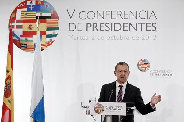 V CONFERENCIA DE PRESIDENTES / RUEDA DE PRENSA PAULINO RIVERO
