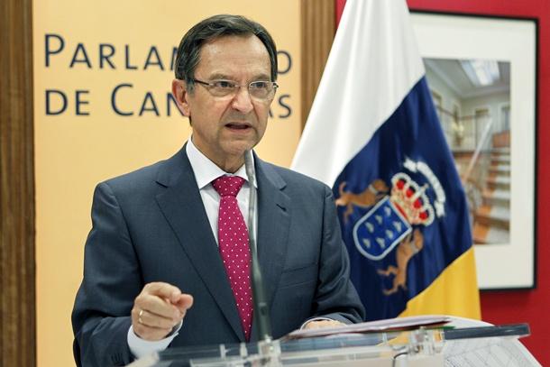 EL PRESIDENTE DEL PARLAMENTO DE CANARIAS, ANTONIO CASTRO