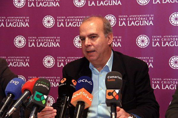 El concejal lagunero de Hacienda, Antonio Pérez Godiño