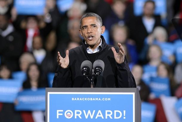 Presidente Barack Obama durante la campaña