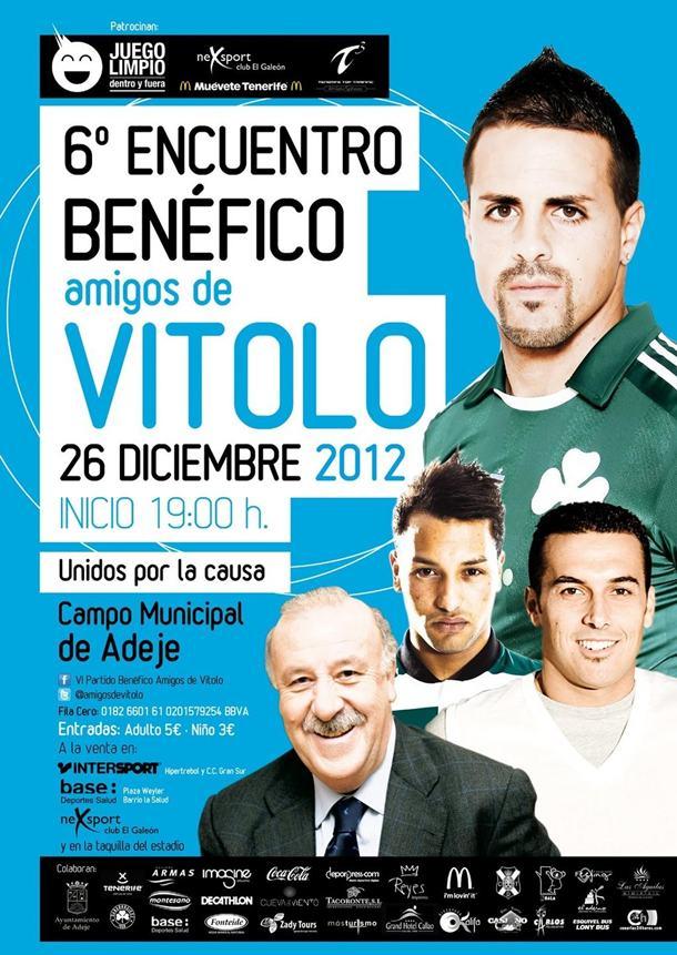 Cartel partido benefico Amigos de Vitolo