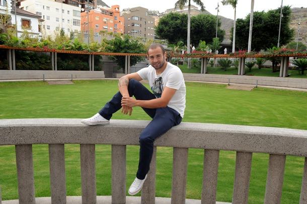 Chechu Flores CD Tenerife en el Hotel Mencey Jg