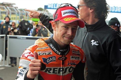 El piloto australiano de Moto GP Casey Stoner (Honda)