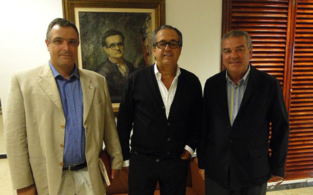 Eusebio Dorta, Antonio Alarcó y Abel Román