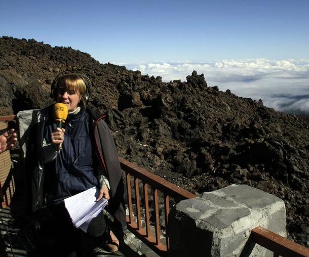 Gemma Nierga Hoy por Hoy Cadena SER en el Parque Nacional del Teide