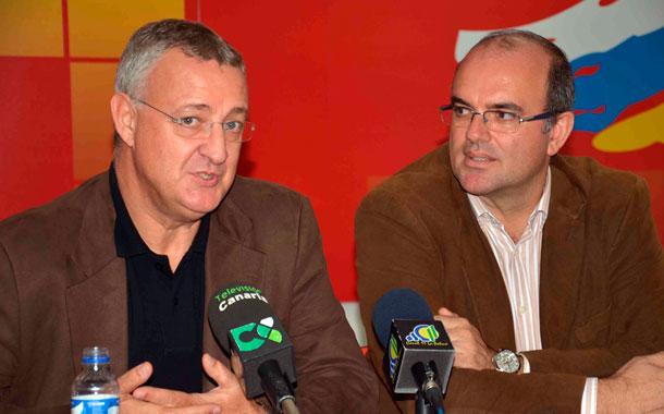 Jesús Caldera y Anselmo Pestana