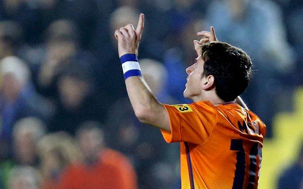 Messi celebra el gol ante el Levante