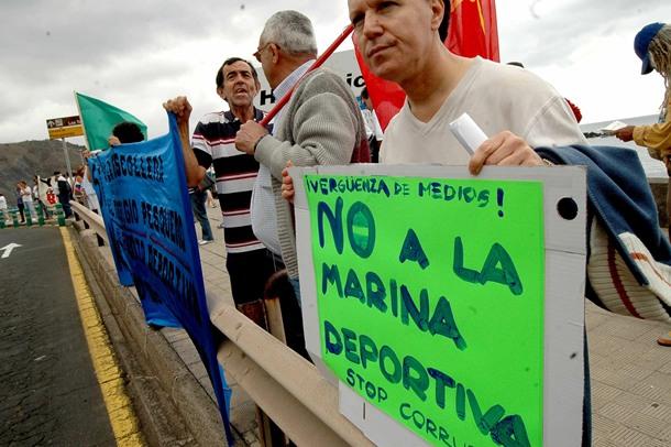 Muelle Deportivo San Andres manifestacion FP