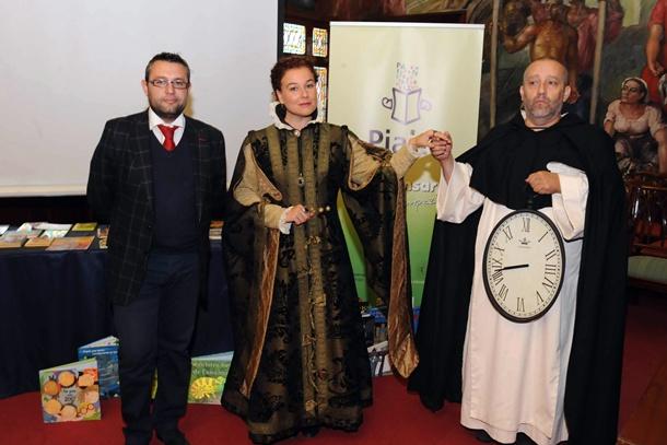 Presentación programa Pialte consejero Miguel Angel Perez y dos actores JG