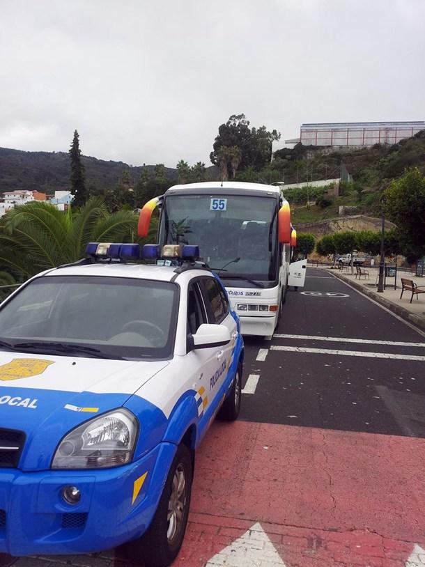 Policia Local La Guancha Guagua transporte escolar