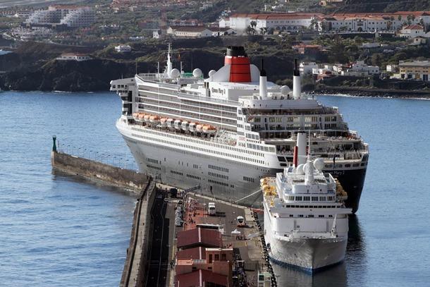 el Queen Mary 2 en Santa Cruz de La Palma CB