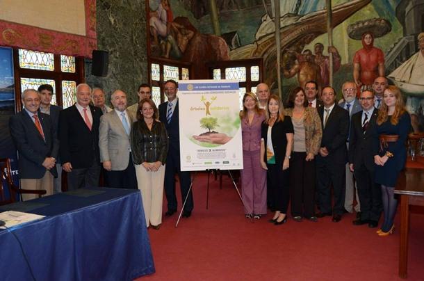 Cabildo de Tenerife y clubes de rotarios de la isla