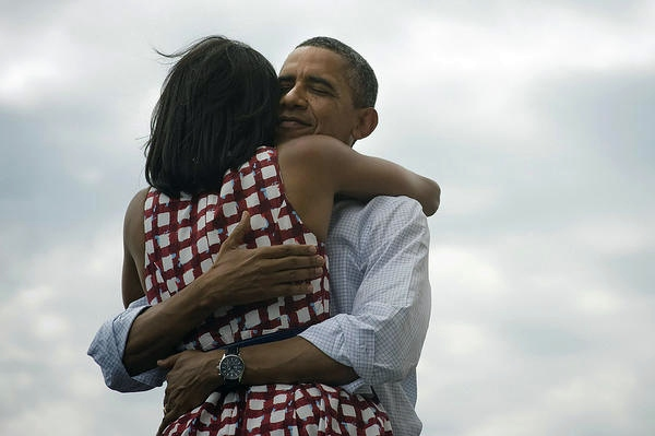 foto twitter Barack y Michelle Obama