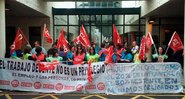 Huelga de limpieza Sanidad La Palma
