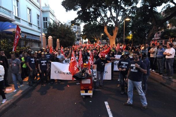 Bomberos Manifestacion Santa Cruz de Tenerife JG