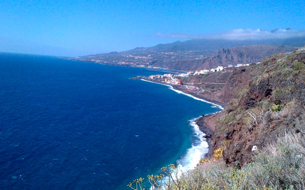 Costa litoral de Santa Cruz de La Palma