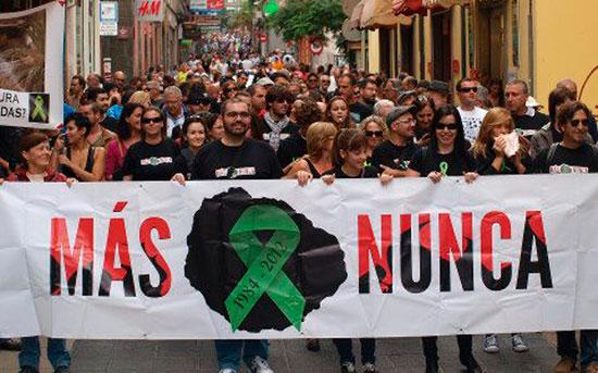 Manifestación de afectados por incendio La Gomera