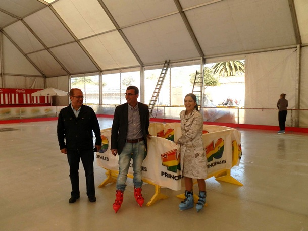 inauguración pista patinaje Plaza del Cristo de La Laguna
