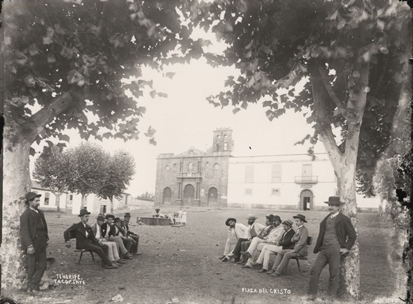Tacoronte plaza del Cristo sobre 1890