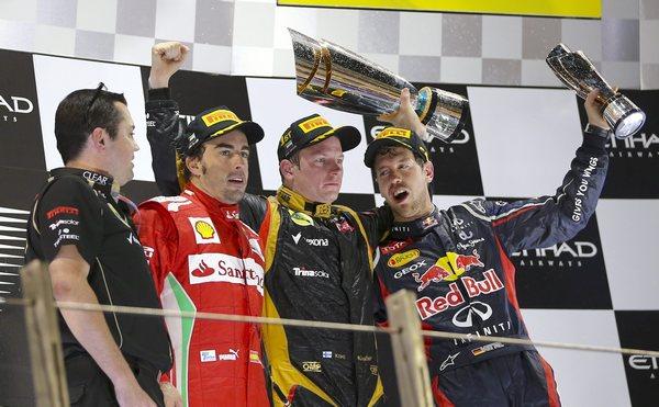 Podio F1 Abu Dabi 2012