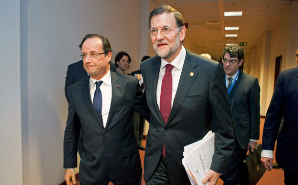 Mariano Rajoy y François Hollande
