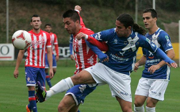 El Sporting B derrotó al equipo de Cervera en la primera vuelta por tres a dos. / DA