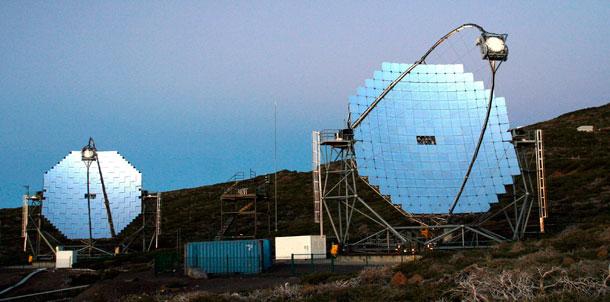 Telescopios Magic, en La Palma