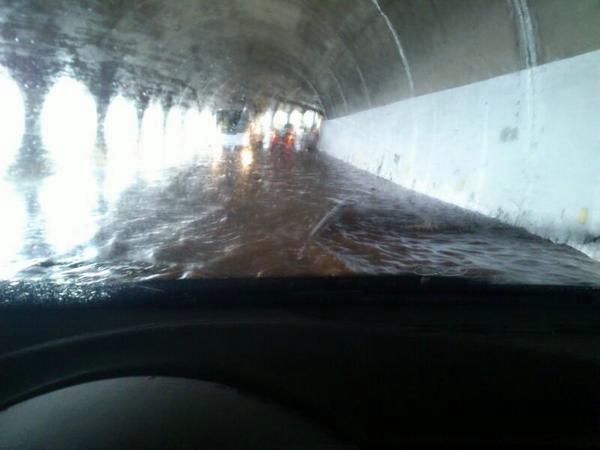 tunel Garachico con agua