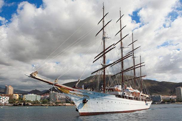 El velero 'Sea Cloud', en Los Cristianos