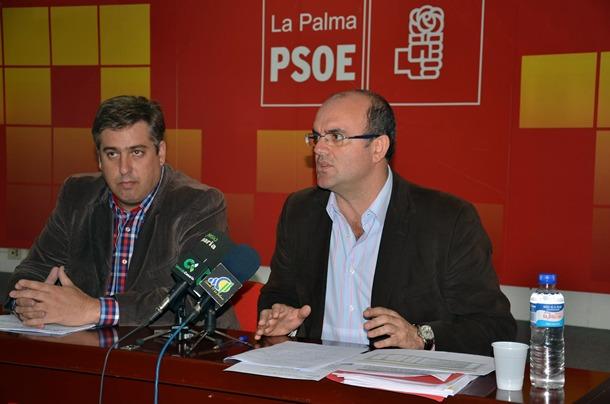 Anselmo Pestana y Jorge González  PSOE La Palma