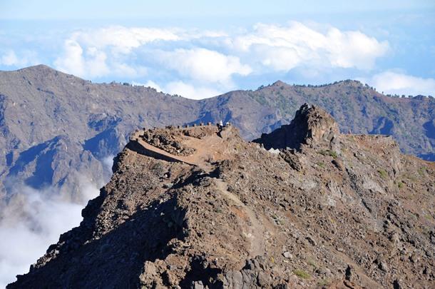 La Caldera de Taburiente en la isla de La Palma