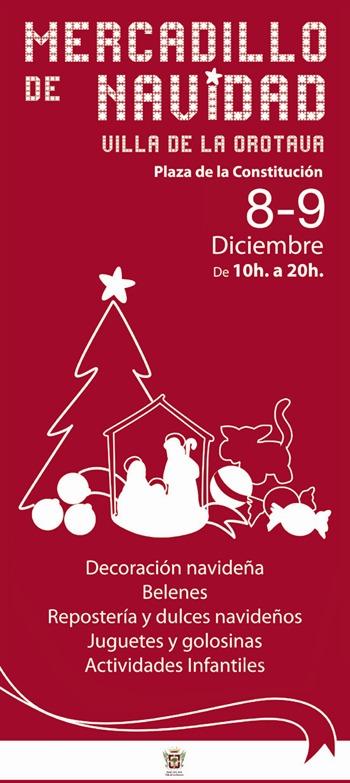 Cartel Mercadillo Navidad La Orotava