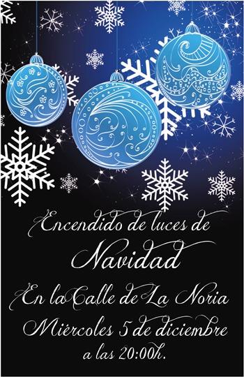 Cartel encendido navidad Calle La Noria