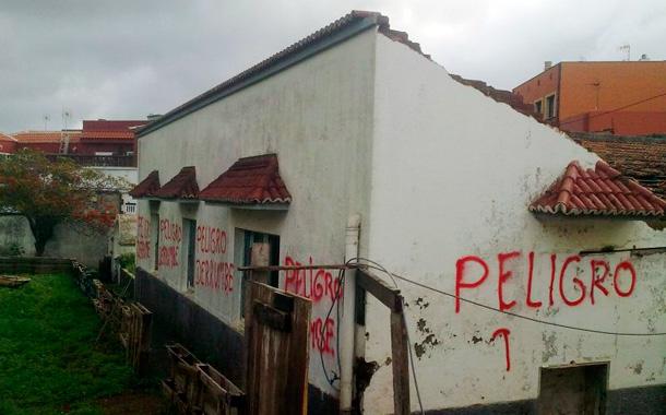 Centro social Anaruz N Timizar, tras la demolición parcial