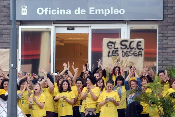 Encierro empleados SCE Santa Cruz SM