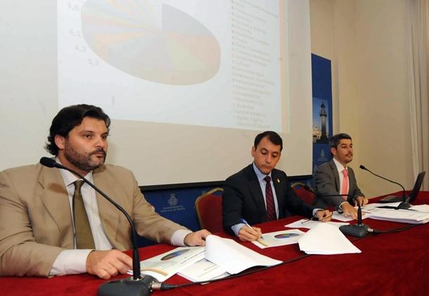 José Ángel Martín, José Manuel Bermúdez y Albertó Bernabé presentaron el nuevo presupuesto JG