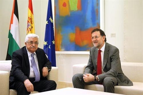 Mahmud Abbas y Mariano Rajoy en La Moncloa