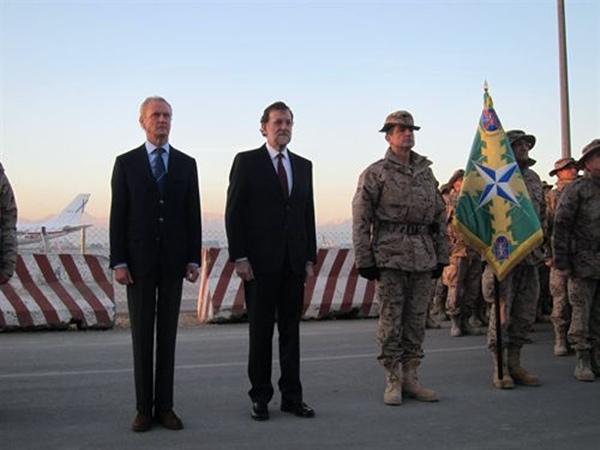 Mariano Rajoy y el ministro Pedro Morenes