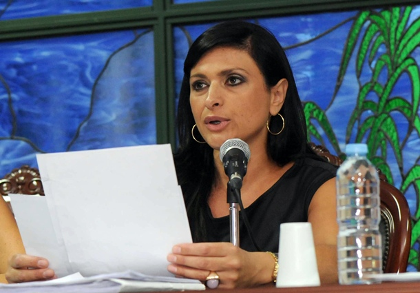 Milagros Perez alcaldesa Santa Ursula JG