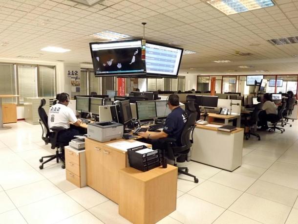 Sala operativa CECOES 1-1-2 Canarias Santa Cruz de Tenerife