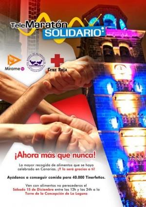 Cartel del telemaratón solidario de Mírame TV 2012