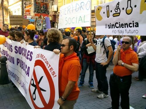 protesta de científicos